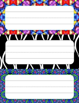 Pattern Name Tags