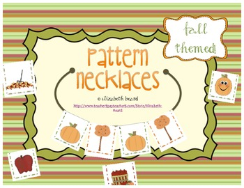 Pattern Necklaces: Fall Theme