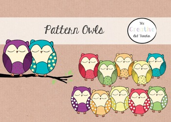 Pattern Owls Clipart