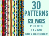 Pattern Paper / Stationery Clip Art - Mega Pack