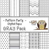 Pattern Party Digital Papers in Gray: Graphics for Teachers