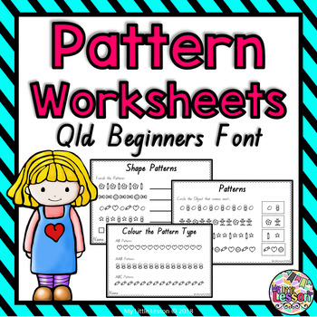 Pattern, Patterning Worksheets QLD Beginners Font