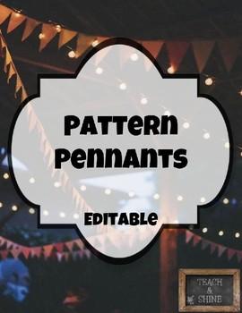Pattern Pennants (Editable)
