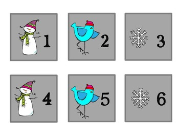 Pattern Practice Calendar Cards for December