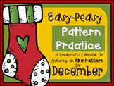Pattern Practice Calendar Cards for December