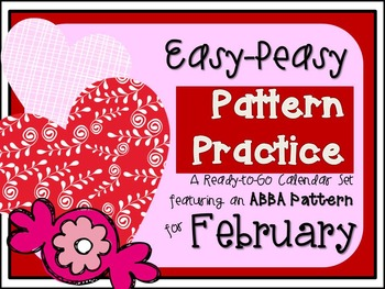 Pattern Practice Calendar Cards for February