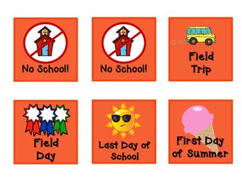Pattern Practice Calendar Cards for June