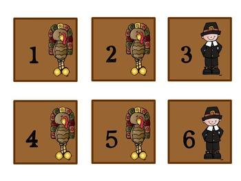 Pattern Practice Calendar Cards for November