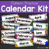 Calendar Pocket Chart Kit: Pattern Practice {EDITABLE}