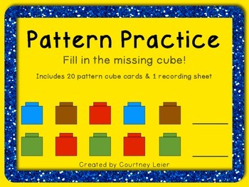 Pattern Practice: Fill in the Missing Cubes - Print & Go
