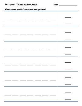 Pattern Practice: Trucks & Airplanes