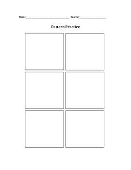 Pattern Practice Worksheet