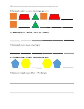 Pattern Practice Worksheet