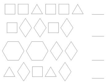 Pattern Practice with Pattern Blocks