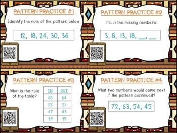 Pattern Practice with QR Codes {24 Task Cards with Number Patterns}