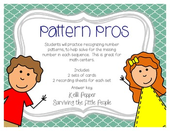 Pattern Pros - Recognizing Number Patterns {FREEBIE!}