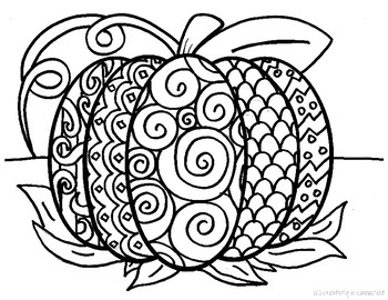 pattern pumpkin coloring pages - photo#1