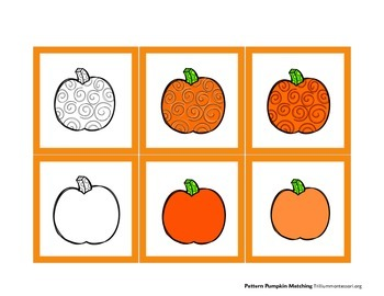 Pattern Pumpkin Matching Cards for Early Learners