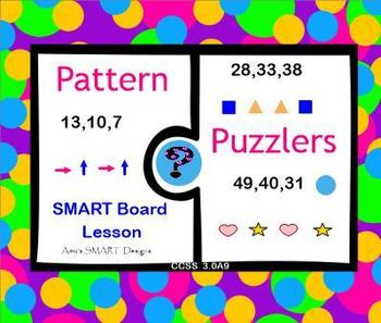 Pattern Puzzler SMART Board Projector and iPad