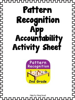 Pattern Recognition App and FREE Accountability Activity Sheets