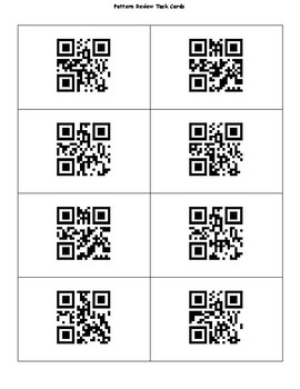 Pattern Review Task Cards