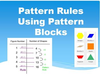 Pattern Rules Question Worksheets! Using Pattern Blocks!