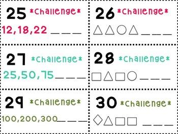 Pattern Scoot (K-2) 30 Cards!