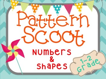 Pattern Scoot (K-2) 30 Cards!