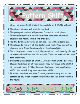 Pattern Shift Card Game 3.OA.D.9