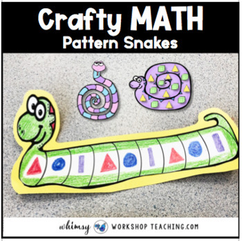 Pattern Snakes Math Craft and Math Center (From Crafty Math Bundle 2)