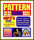 """Pattern Song"" Brain Break, Shared Reading 'Follow Directions' Math Song"