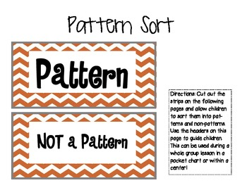 Pattern Sort... Pattern? Or Not?