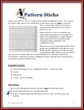 Pattern Sticks: A Math Tool for Learning Multiplication & Working with Fractions