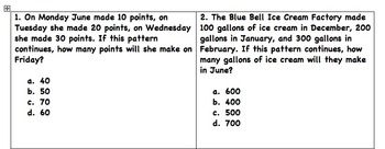 Pattern Story/Word Problem Task Cards STAAR - all operations
