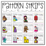 Pattern Strips Bundle for English and French Classrooms