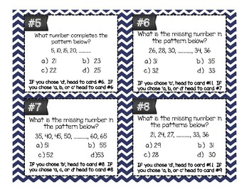 Pattern Task Cards Differentiated