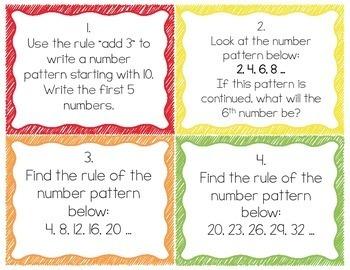 Pattern Task Cards