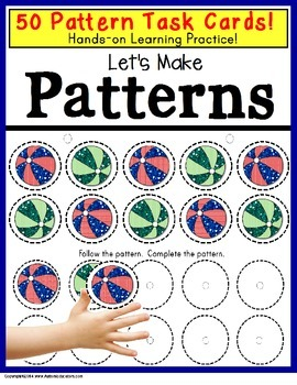 Patterns Task Cards with Data for Special Education