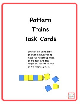 Pattern Trains Task Cards