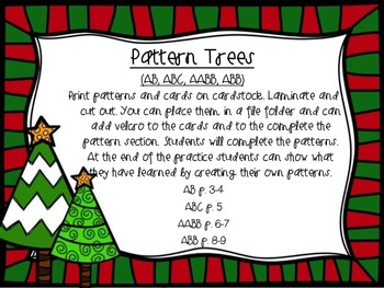 Pattern Trees(AB, ABC, AABB, ABB) Freebie