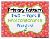 CYCLES: Pattern Two ~ Final Consonants Part B