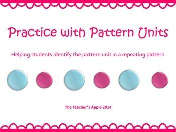 Pattern Units Practice