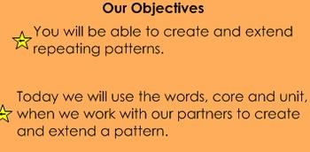 Pattern Vocabulary (Core and Unit)