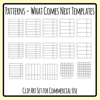 Pattern - What Comes Next Template Image Only Clip Art Set Commercial Use
