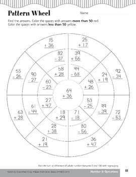 Pattern Wheel (Addition/Subtraction with Regrouping)