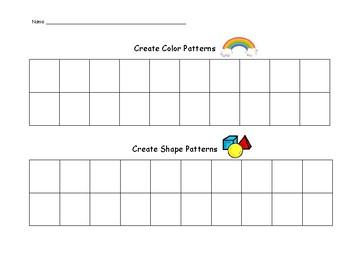 Pattern Worksheet