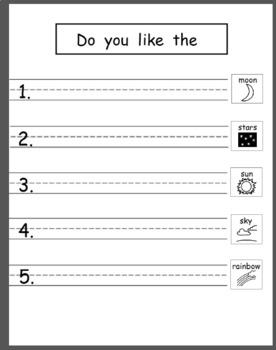 Pattern Writing Bundle 10 - Pre-Primer and Primer Sight words (5 word sentences)