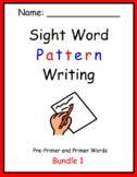 Pattern Writing Bundles 1 - 5 Sight Word practice (3 & 4 word sentences)