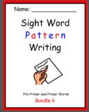 Pattern Writing Bundles 6 - 10 Sight Word practice (4 & 5 word sentences)