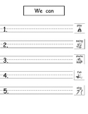 Pattern Writing with Sight Words (Freebie from Bundle 2!)
